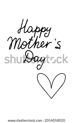 cute happy mother's day card