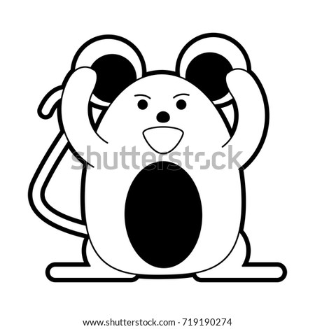 cute happy mouse icon image