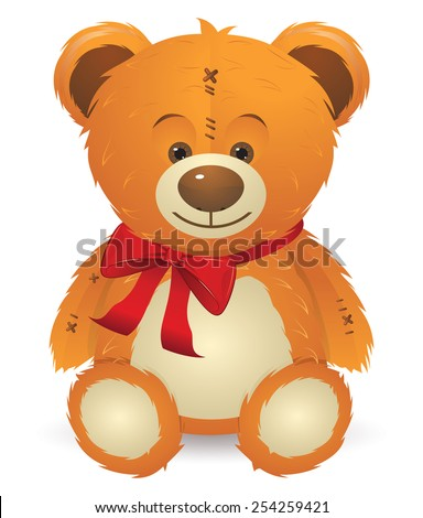 cute happy teddy bear toy with