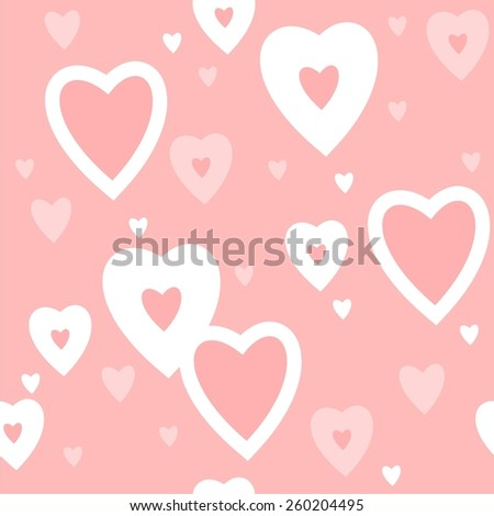 cute heart pattern vector illustration