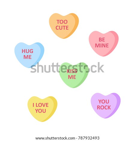 cute heart shaped candies with