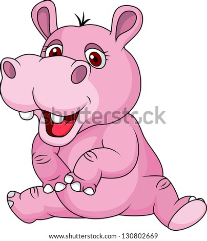 Cute hippo cartoon