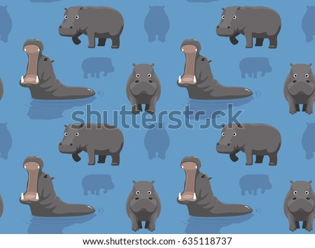 Cute Hippopotamus Wallpaper