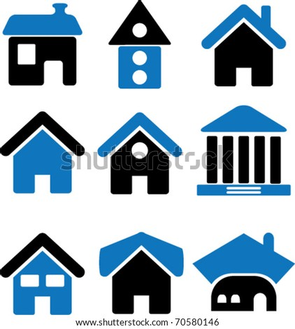 cute houses. vector