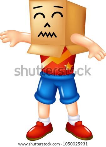 cute human cardboard cartoon