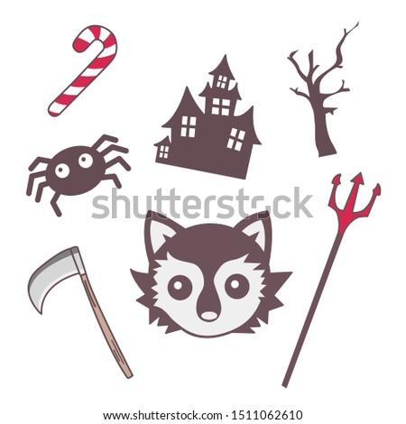 cute icon emoji halloween