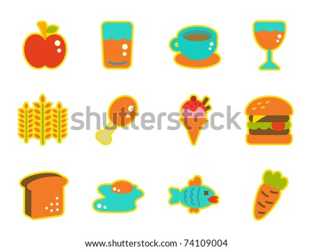 cute icon series - food