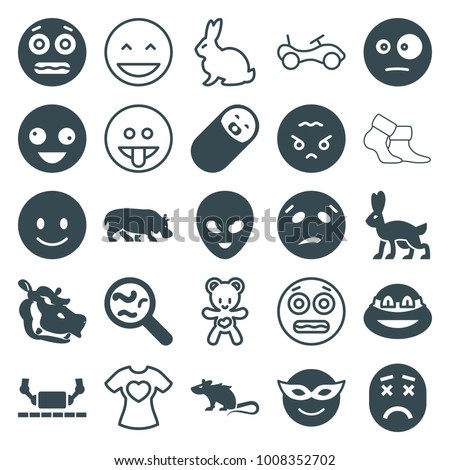 cute icons set of 25 editable