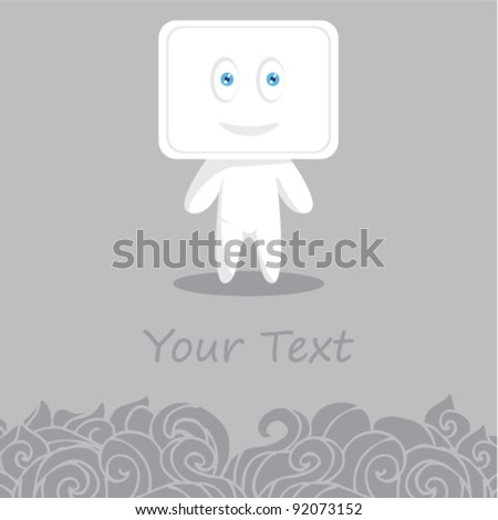 Cute illustration guy submit text background