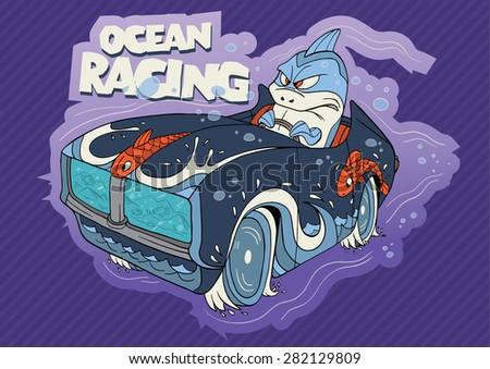 cute illustration of a shark