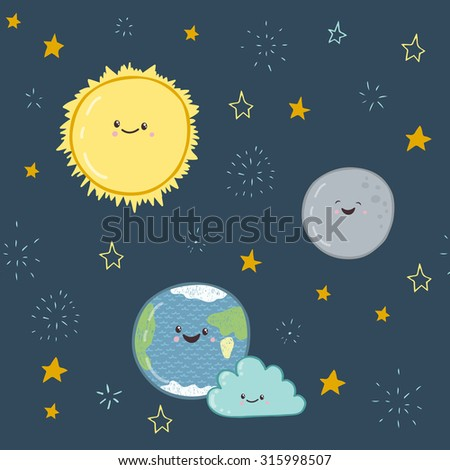 cute illustration of the earth