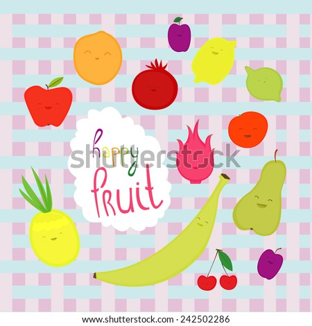 cute image with cheerful fruit