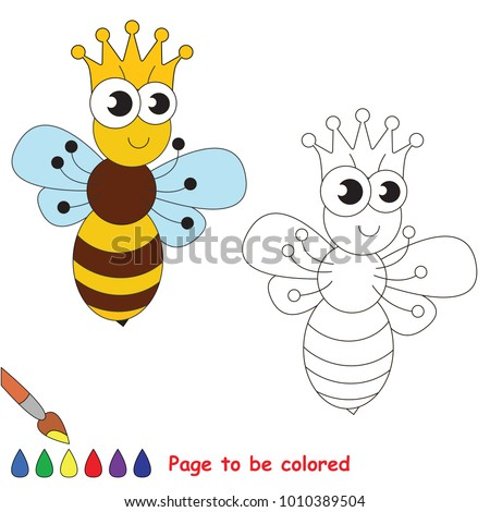 cute insect queen bee to be