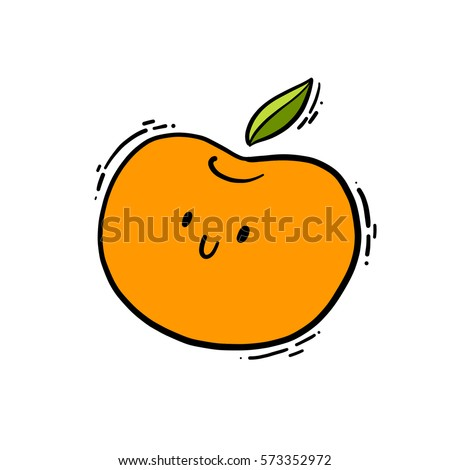 cute isolated vector doodle