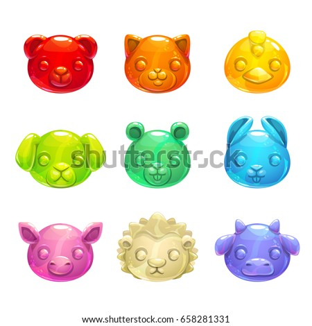cute jelly animals faces
