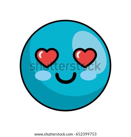 Cute kawaii cartoon face
