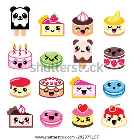 cute kawaii dessert   cake