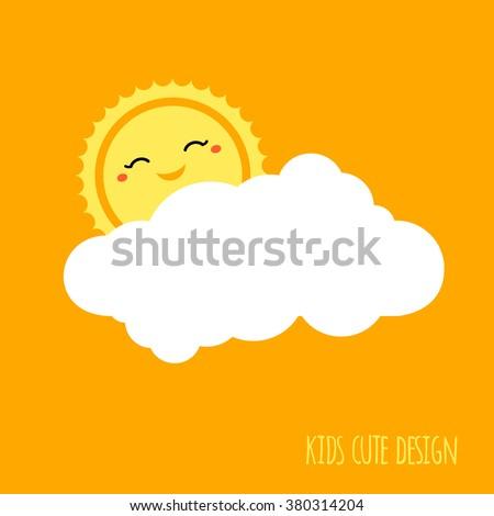 cute kids background design