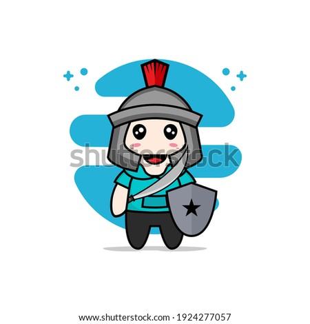 cute kids character wearing