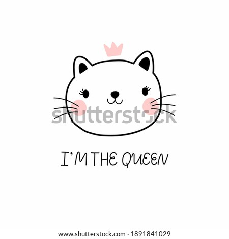 cute kitten in a crown and