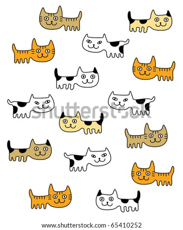 cute kitten wallpaper. stock vector : cute kitten