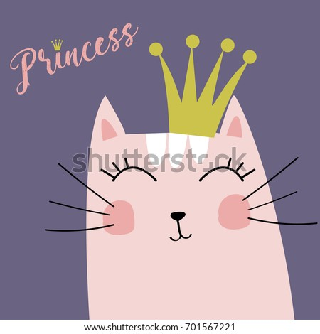 cute kitten with crown and
