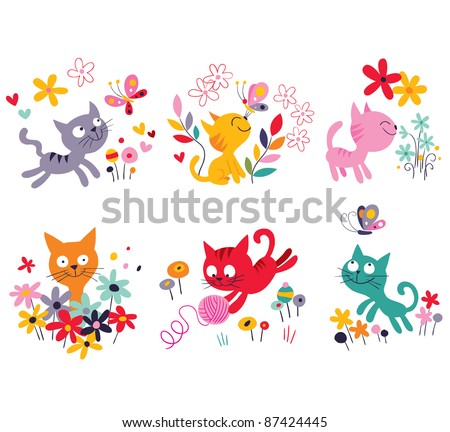 cute kittens set