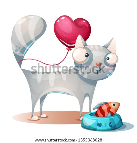 cute kitty  cat characters with