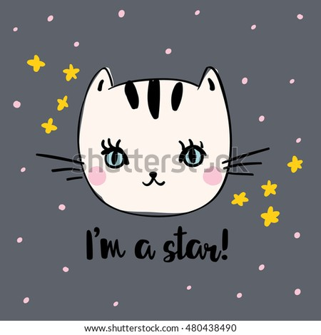 cute kitty with message i'm a
