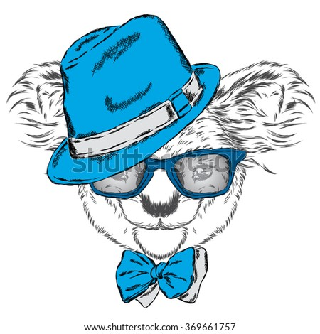 Cute koala in a cap and a tie australia vector illustration for australia vector illustration for greeting card m4hsunfo