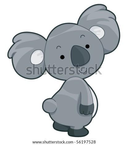 Cute Koala - Vector - stock vector