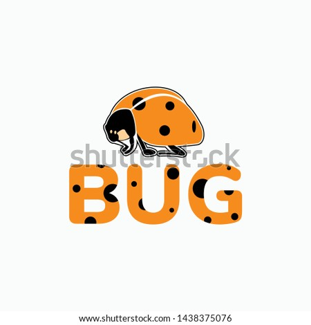 cute ladybug logo for your