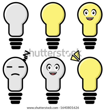 cute lamp cartoon character