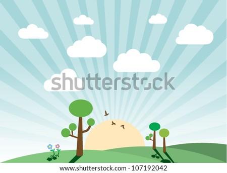 cute landscape
