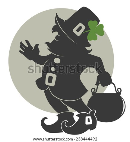cute leprechaun silhouette for