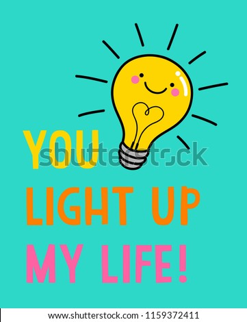 cute light bulb cartoon with
