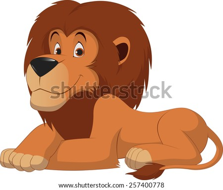 cute lion cartoon