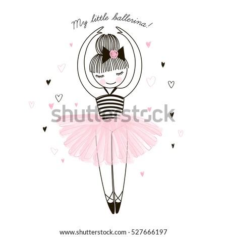cute little ballerina  doodle
