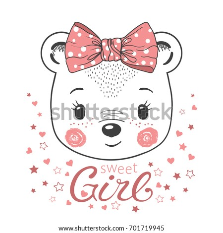 cute little bear girl for
