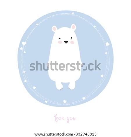 cute little bear greeting card