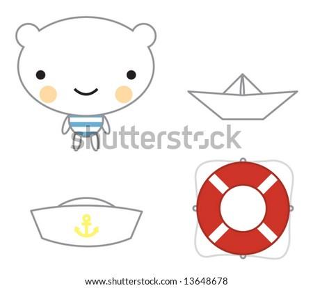 cute little bear sailor kit