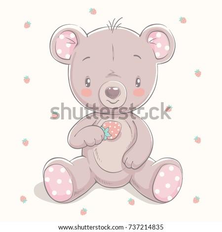 cute little bear with a
