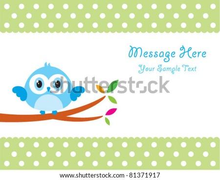 cute little bird message