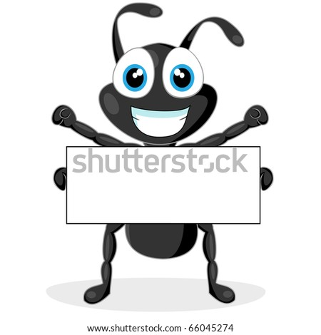 Cute Ant Logo Cute Little Black Ant With