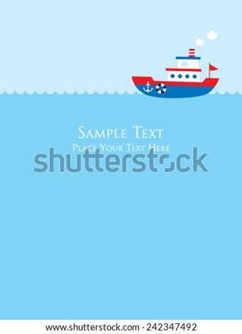 cute little boat card