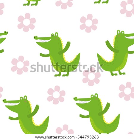 cute little crocodile in