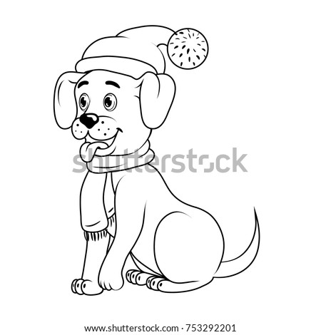 cute little dog with christmas