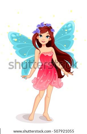 Cute little fairy vector fantasy illustration