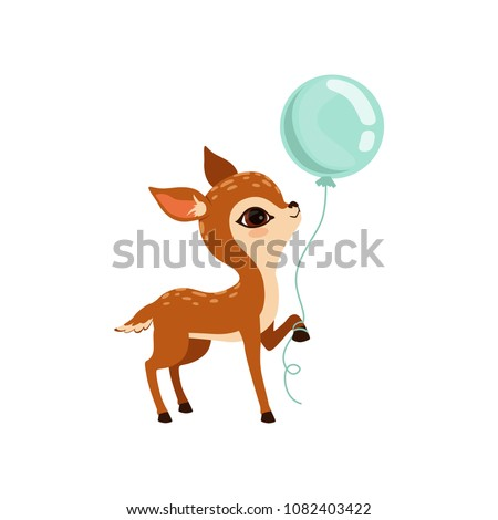 cute little fawn character with