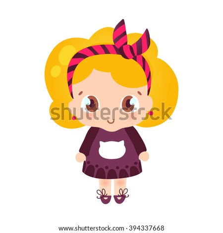 cute little girl cartoon